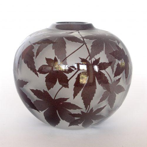 Copper red maple vase